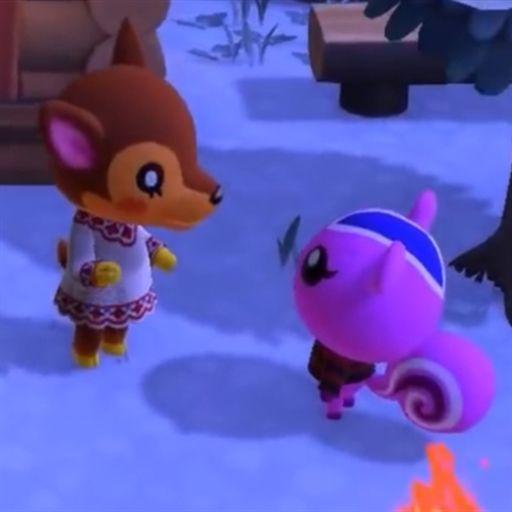雪の中おしゃべりするドレミとももこの画像